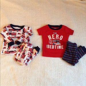 2 Pair Carters Baby Boy Pajamas